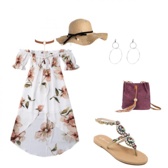 #summerlook #flowers #sandals #sombreroplayero