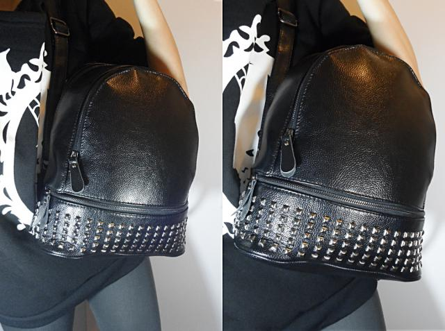 Gorgeous Studded PU Leather backpack, my favourite bag at the moment! I can`t stoop wearing it :)