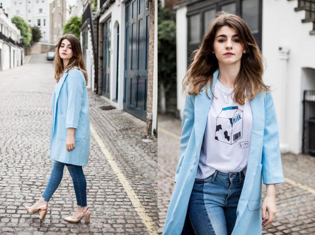 Instagram:  cherrylassie  #cherrylassie #ootd #fashion #beauty #jeans #tshirt #coat #mylook #style #zmesday00