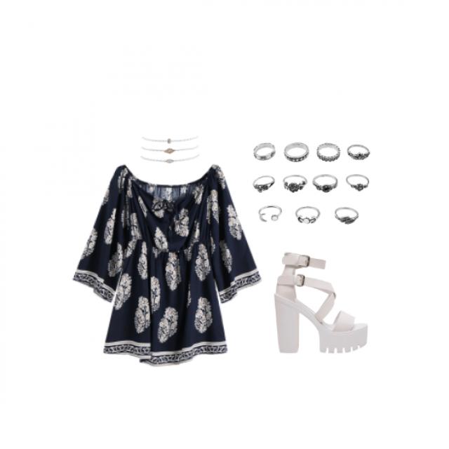#white #dress #rings #shoes #summer