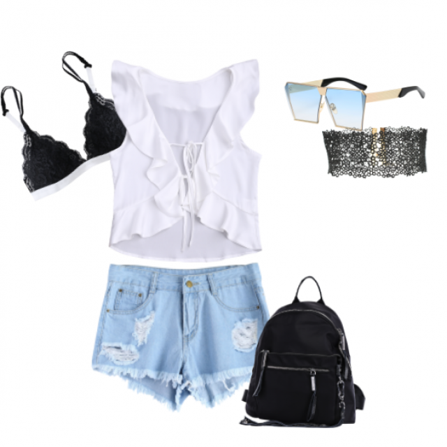 Casual #ootd with #lace detailing. 