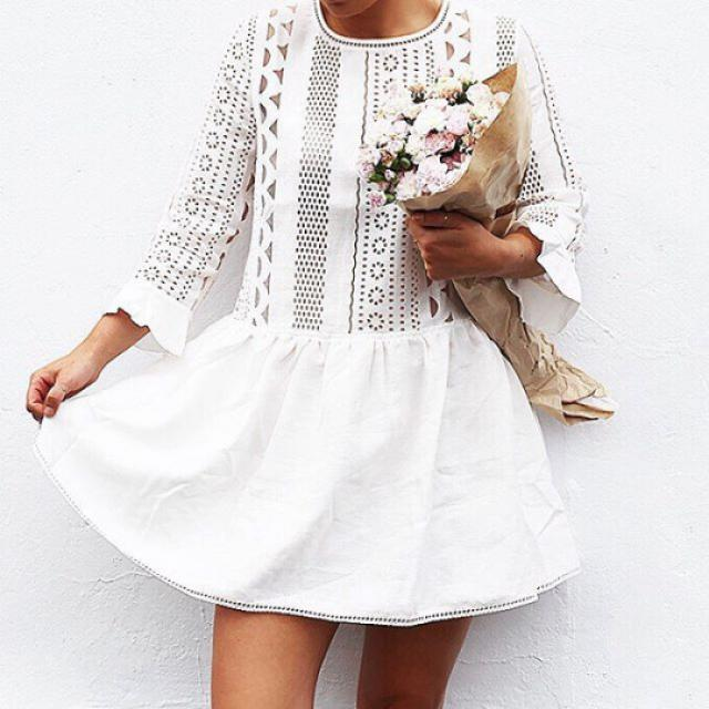 White dress,women fashion,outfits,zaful, like for dress,your coment is!