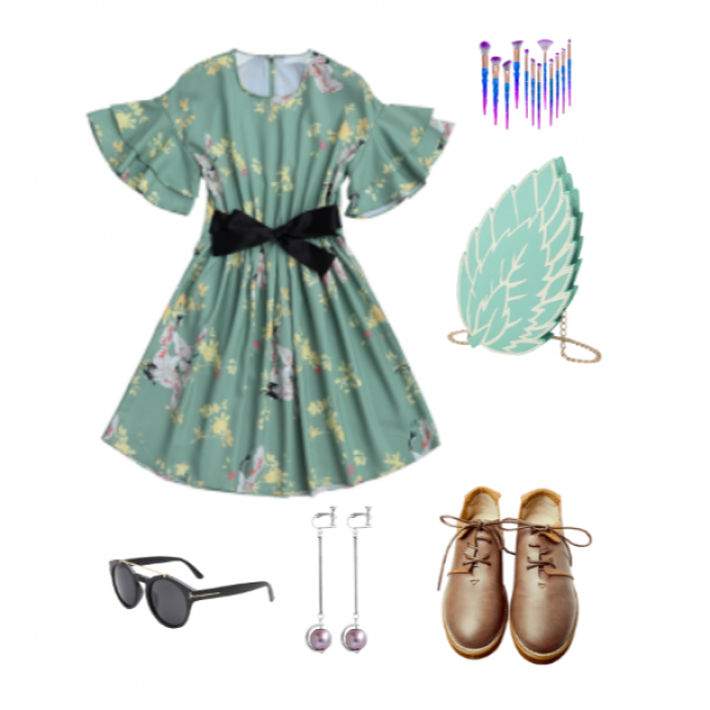 My toddler picked all these items to go together! She\'s a fan of pretty dresses and bags. (: #summer #summerdress