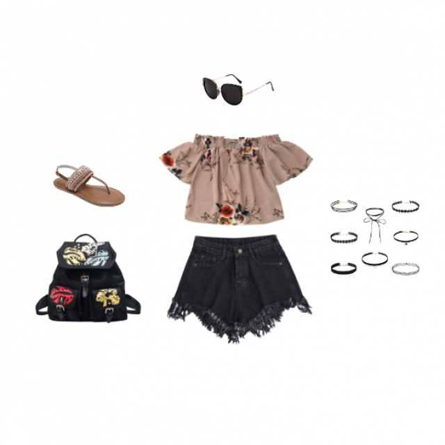 Festival Fun! This stylish outfit is fashionable and fun. It\'s also great to keep cool in the sun. The bag can carry