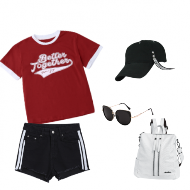 Footbal game? :D  #game #player #tee #favourit #casual #fashion #daily #contrast #lady