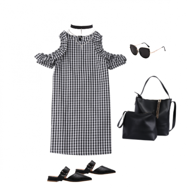 - Love Gingham trend -  Would love an embroidery design <3  Day outfit