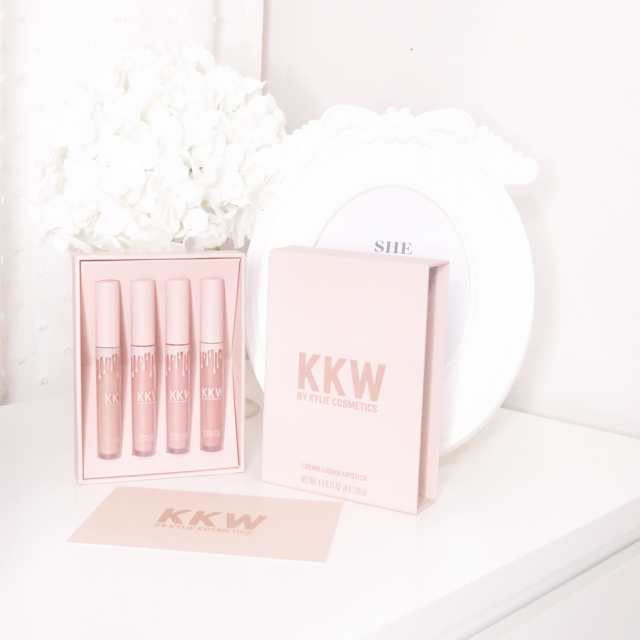 Love this KKW Kylie Jenner x Kim Kardashian lip creams. They are a lot more moisturizing than the regular kylie lip kit…