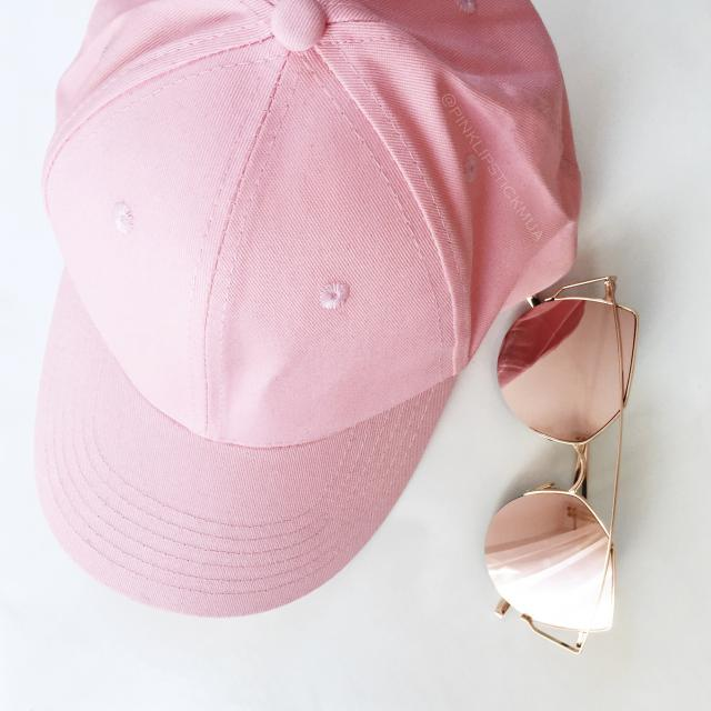 #glasses #cap #fashion #pink