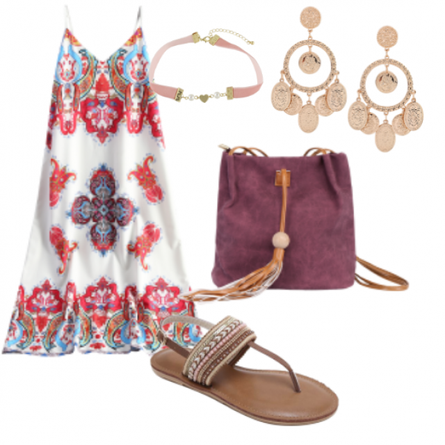 Perfect choice...... #sandals#dress#bag#jewelry