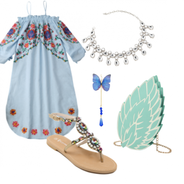 #bag#sandals#jewelry#dress