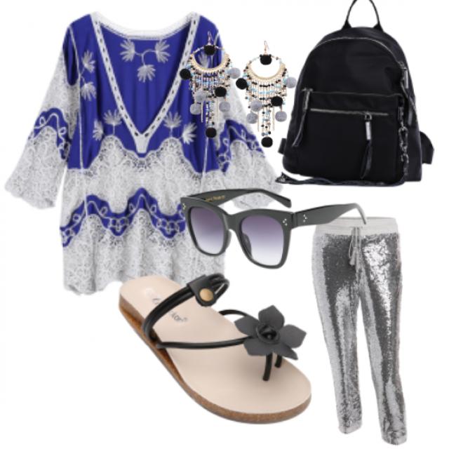 #bag#pants#tunic#sandals#sunglasses