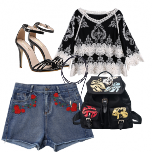 #shorts#bag#sandals#jewelry