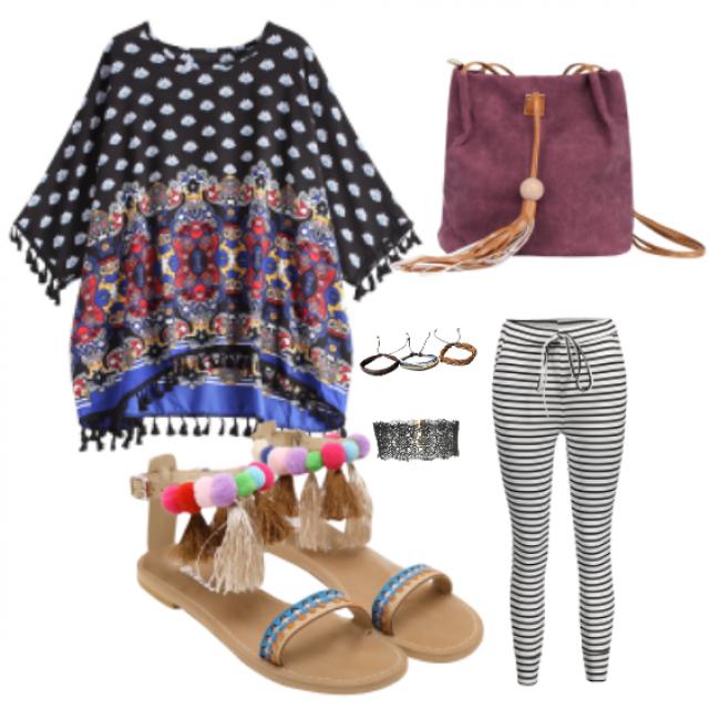 #tunic#pants#bag#outfit