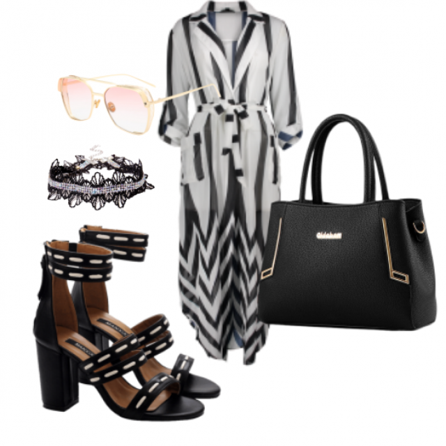 #sunglasses#dress#sandals#bag