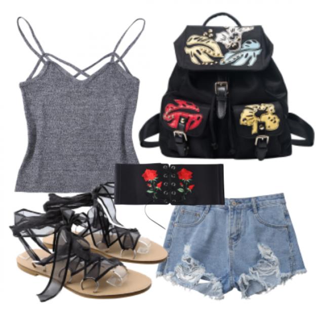 #dress#shorts#top#bag