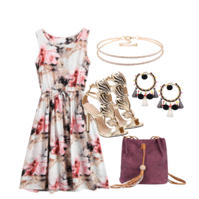 //Beautiful dress//#dressforidol#nailart#gotolook