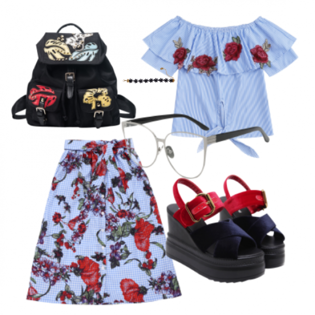 #sandals#sunglasses#skirt #tpo#jewelry