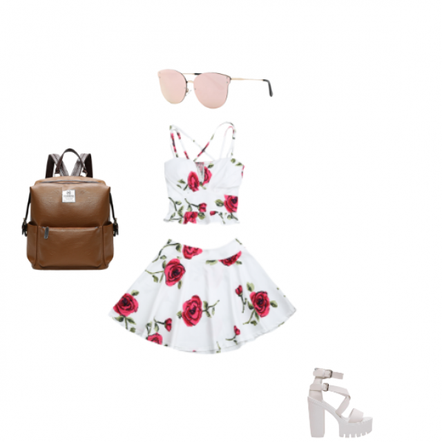 A cute outfit for summer parties