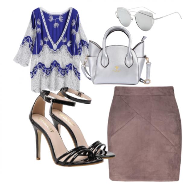 #Bag#sandals#skirt#top#sunglasses