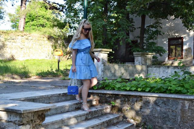 Blue @dress, new #ootd is online ...