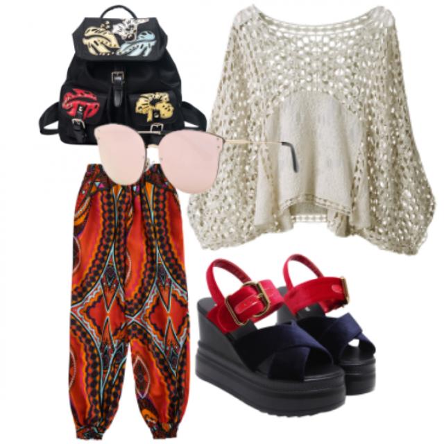 #top#bag#skirt #sunglasses