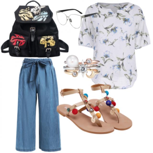 #bag#pants#sandals#top#jewelry