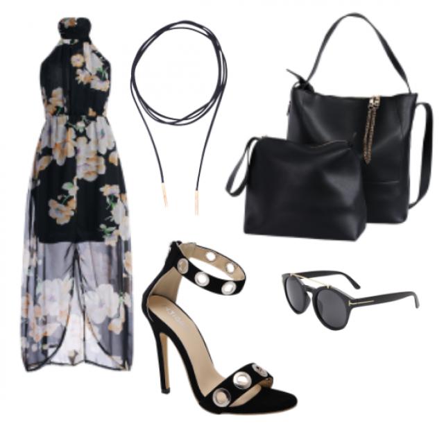 #sunglasses#sandals#bag#dress