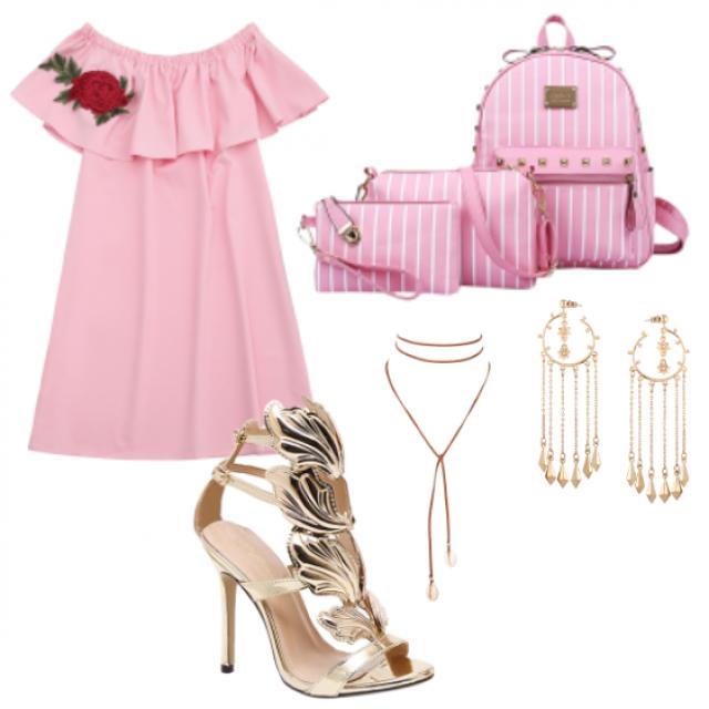 #sandals#dress#bag#jewelry