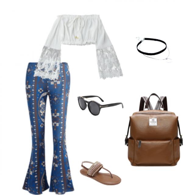 Boho Bellbottom Class Summer Outfit