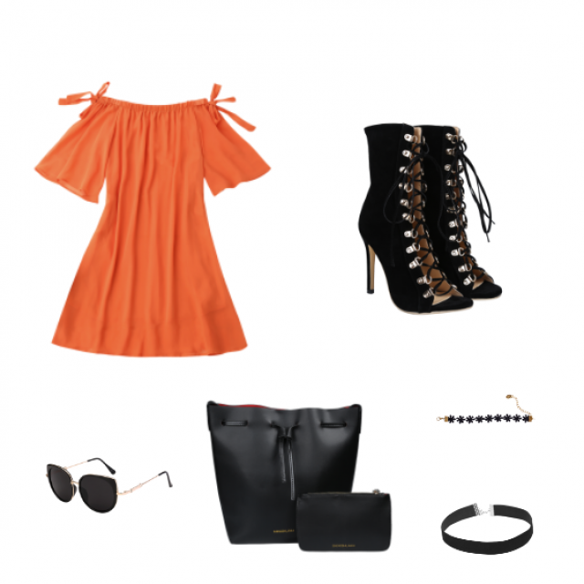 summer outfit - chic contrast