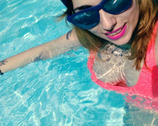 selfie time, summerrr is here! #loveselfie #summer #pool #swimwear