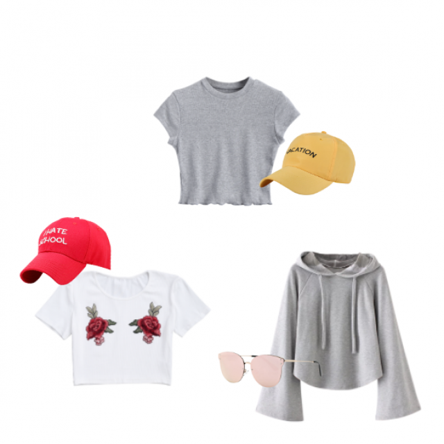 I really love these three outfits sports, how to go to Mc\'donalds and back happy