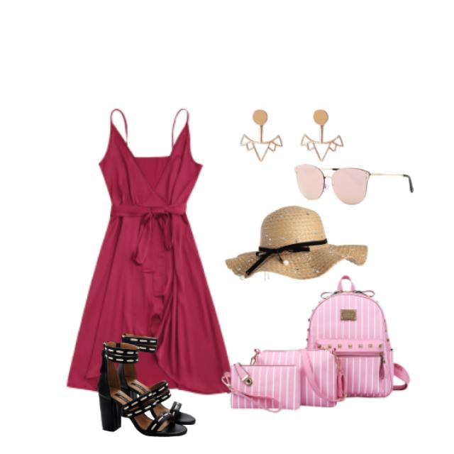 #summer #summerdress #dress #pink #hat