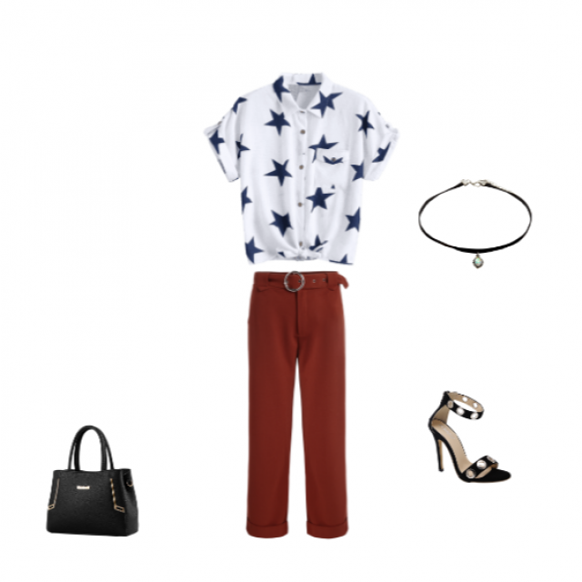 Office Lookbook: If you have to work on the 4th of July but still want to show spirit for that day, this would be the
