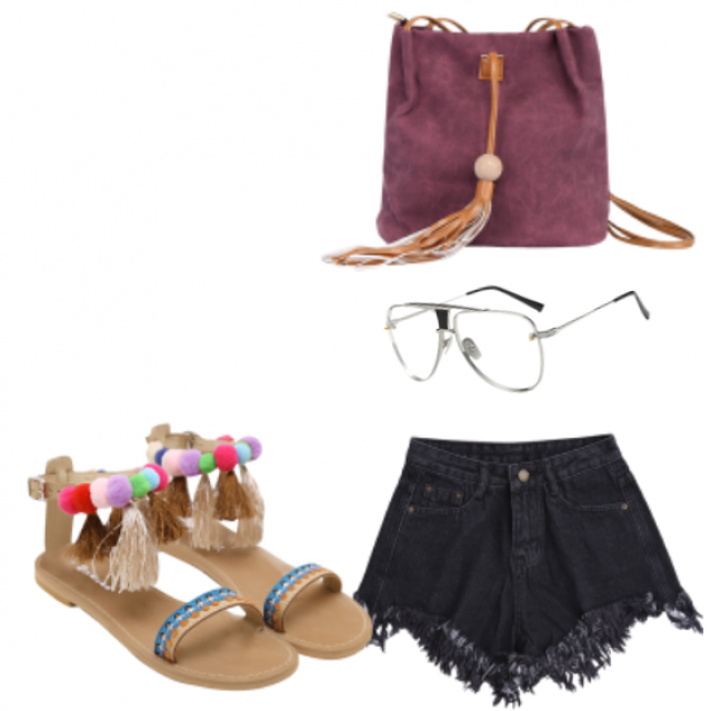 #sandals#dress#shorts#sunglasses