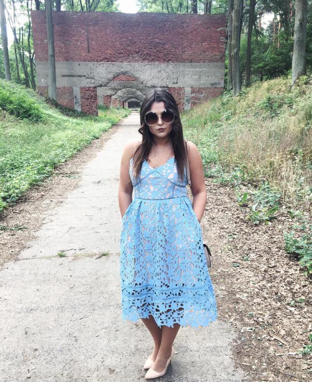 #blue #dress #ootd #wedding #party