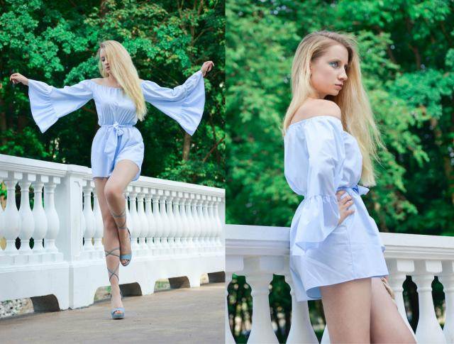 This romper is perfect for this summer! #julyblue #romper #babyblue #summer #holiday #ootd #zafulhits #shoeslover
