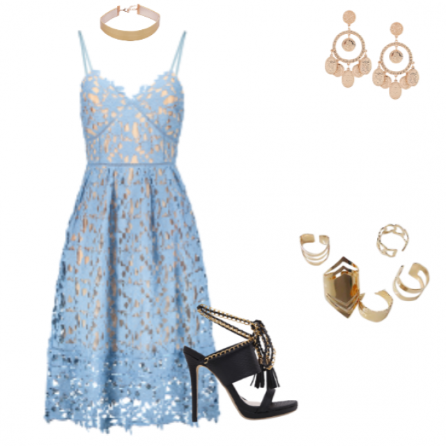Blue and gold #ootd