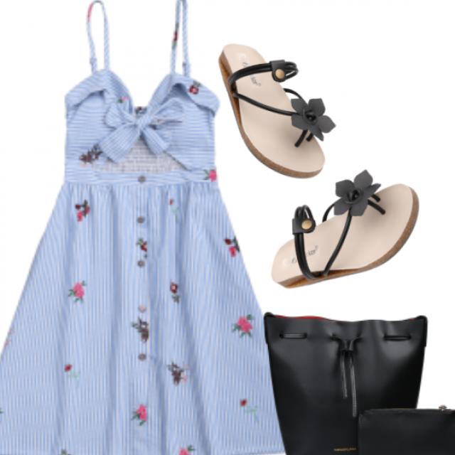#bow #stripesdress