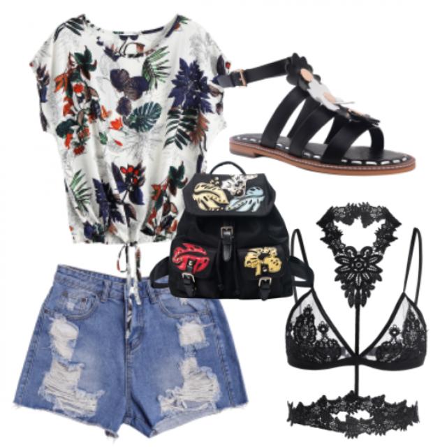 #shorts#bag#bikini#top