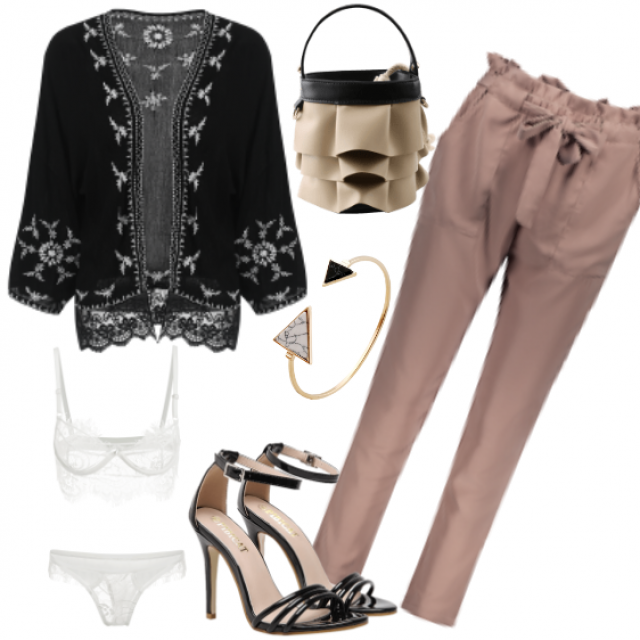 Outfit #pants#sandals#bag#top