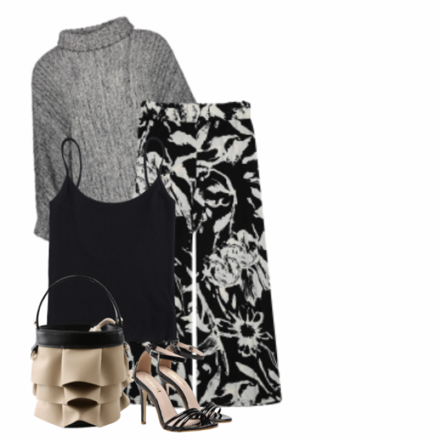#pattern #sandals #top #sweater