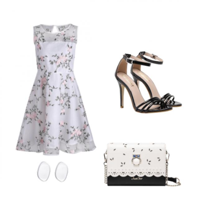 #gowndress #blackandwhite