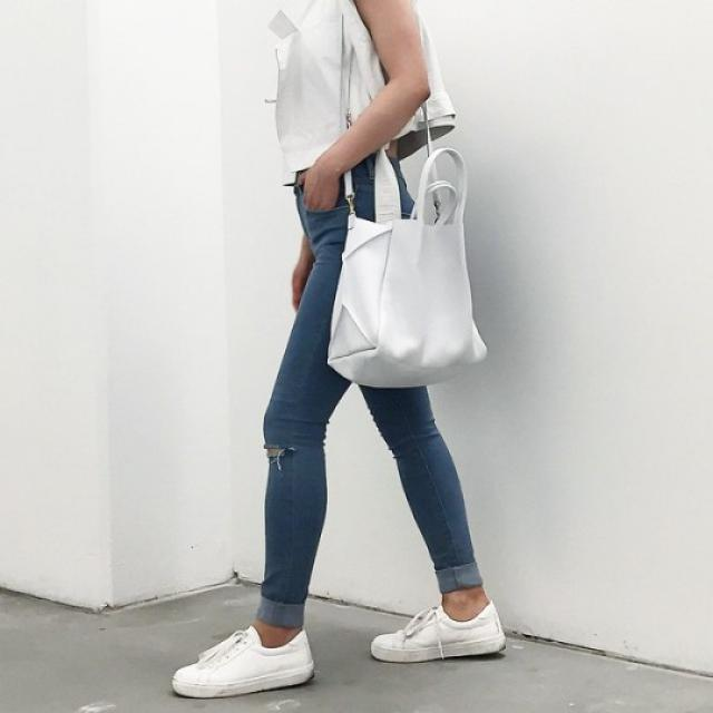 We must let go of the life we have planned, so as to accept the one that is waiting for us. #lovedenim #style #white