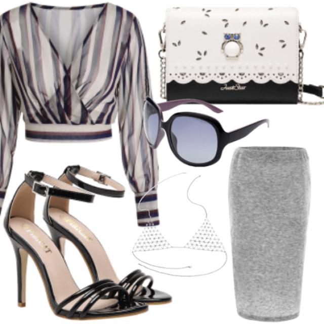 #skirt#blouse#sandals#bag#sunglasses#skirt#followme#teen#style#like#online #store