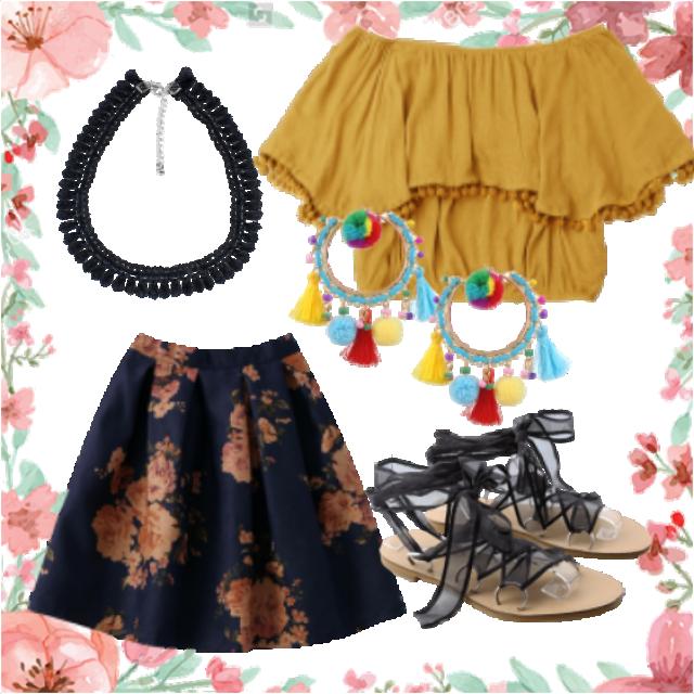 #sunglasses#skirt#jewelry#sandals
