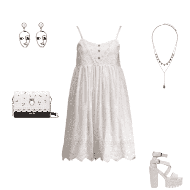 #dresslover #whiteoutfit