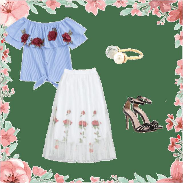 #skirt #blouse #fashion #style#modern