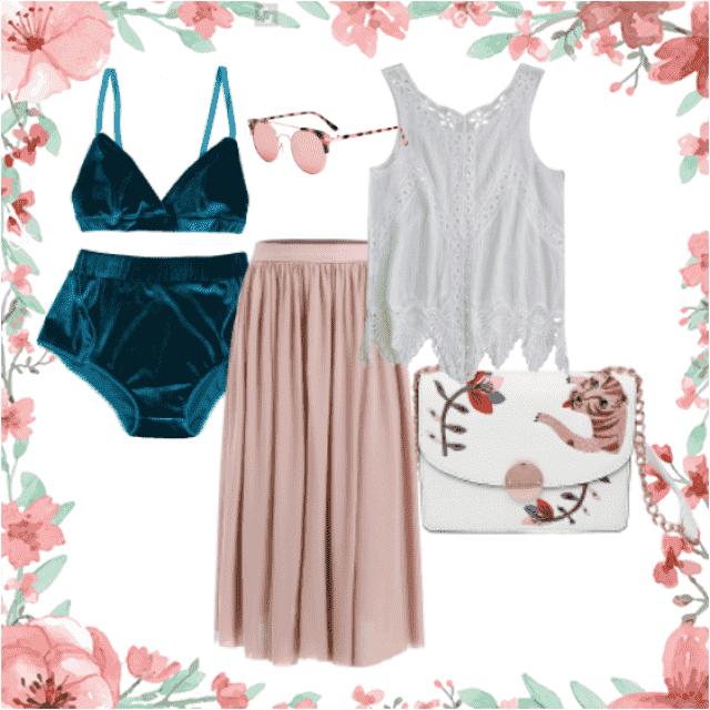 #prettyinpink #velvet #rosecolouredshades #lace