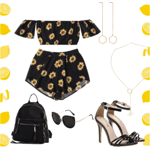 #sunflowers #shoes #bag ♥